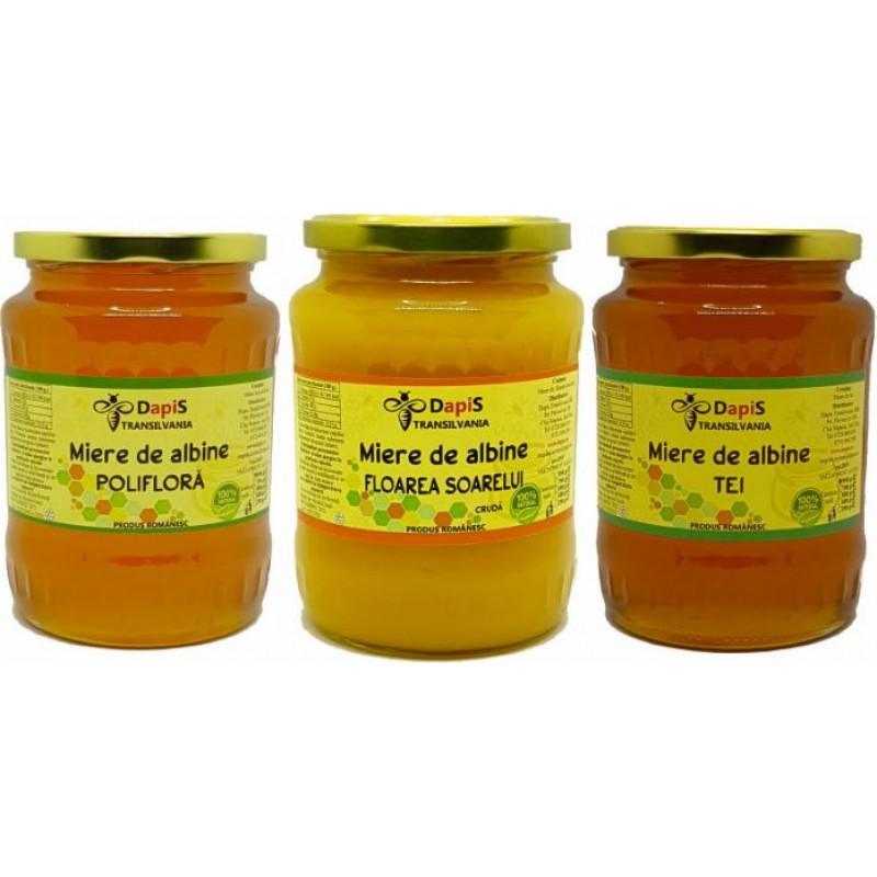 Pachet 3 sortimente de miere