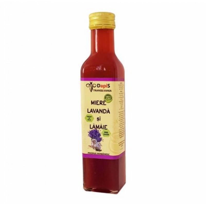 Sirop din flori de lavanda cu miere si lamaie 250 ml