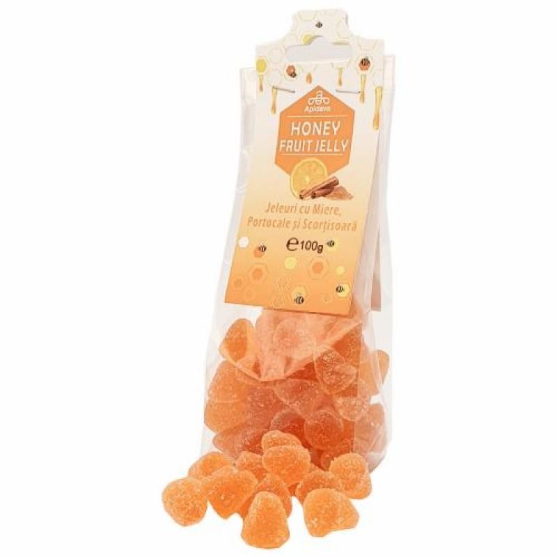 Jeleuri cu miere, portocale si scortisoara 100 GR